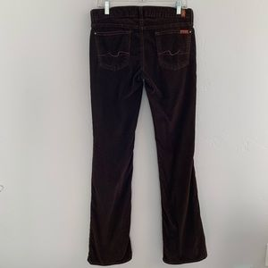7 For All Mankind Corduroy Bootcut Pants 29